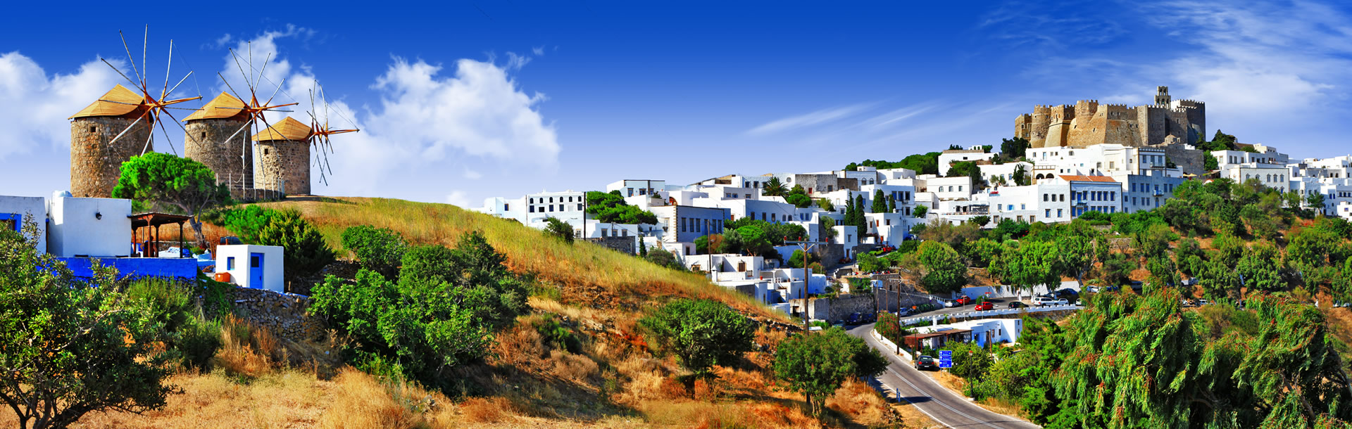Chora on Patmos Island, Greek Islands